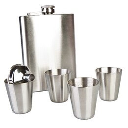 Flask Set with Four Shot Glasses Flask Set with Four Shot Glasses Flask Set with Four Shot Glasses