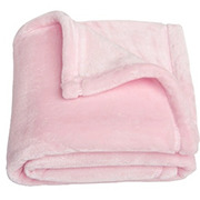 Teddy Time Super Soft Blanket in Baby Pink