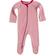 Pure Baby Organic Cotton Growsuit Red Stripe