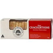 Valley Produce Cracker Thins Plain 100g