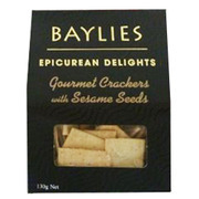 Baylies Gourmet Crackers with Sesame Seeds 130g