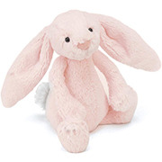 Bashful Bunny Rattle in Baby Pink by JellyCat