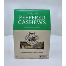 Valley Produce Peppered Cashews 120g