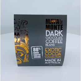 Maya and Monte Dark Chocolate Coffee Beans 140g