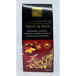 Hugo's Confectionery Milk Chocolate Fruit and Nut 250g