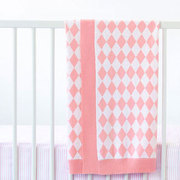 Marquise Knitted Blanket in Pink